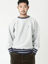 CHAMPION × BEAMS / 別注 ラインリブ ルーズフィット スウェットシャツ