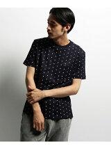 【ユニセックス】総柄ドット クルーネックTシャツ