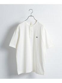 URBAN RESEARCH 【別注】Scye*URBAN RESEARCH Henley Neck Tシャツ アーバンリサーチ カットソー Tシャツ ホワイト ブルー ブラウン【送料無料】
