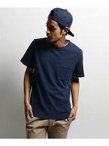 【ユニセックス】BCワッペン デニムポケットクルーネックTシャツ