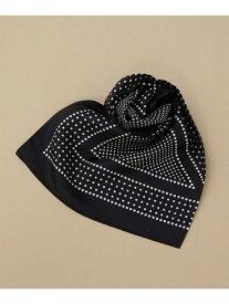 【SALE/50%OFF】Le Vernis クラシックドットスカーフ ナノユニバース ファッショングッズ マフラー/スヌード ブラック ブラウン パープル