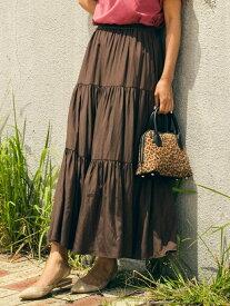 【SALE/30%OFF】MAYSON GREY 【socolla】ティアードスカート メイソングレイ スカート スカートその他 ブラウン ブラック ベージュ レッド【送料無料】