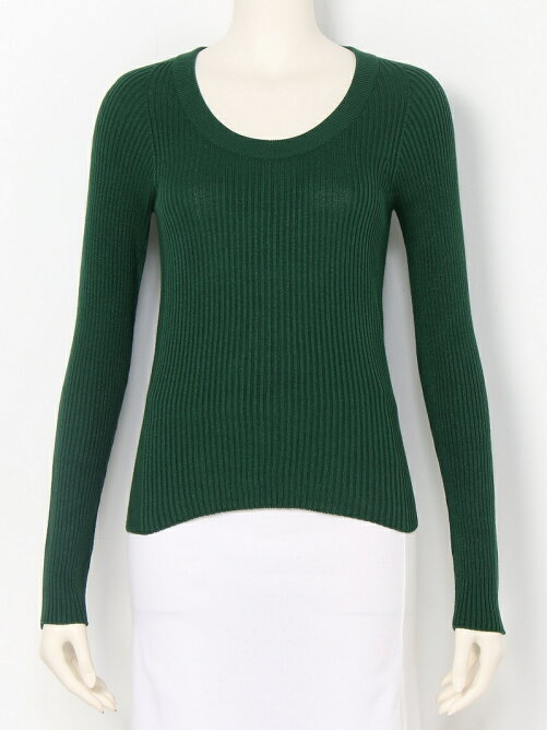 WHOLE RIB U-neck Top