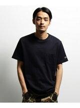 【ユニセックス】BCワッペン ポケットクルーネックTシャツ