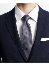シルク柄切り替えネクタイ