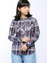 (L)ビエラチェックシャツ