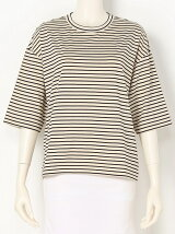 COMPACT STRIPE Crew neck Top