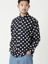 BEAMS / ビッグドットプリント ミニレギュラーシャツ