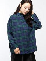 emsexcite/2WAYチェックシャツ