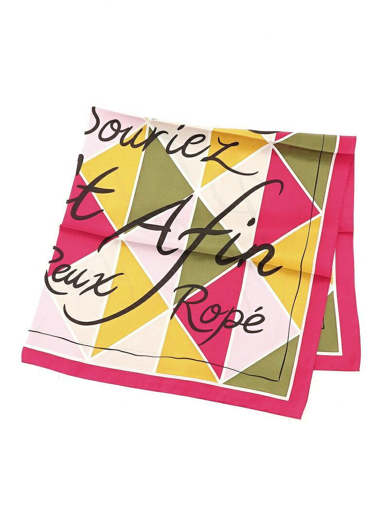 【SALE/50%OFF】ROPE' 幾何学柄スカーフ ロペ ファッショングッズ【RBA_S】【RBA_E】
