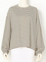COMPACT STRIPE Puff Sleeve Top
