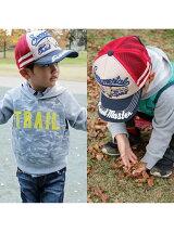 (K)KID'Sバッファロー刺繍メッシュキャップ