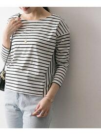 【SALE/50%OFF】URBAN RESEARCH 変形切替ボーダーカットソー アーバンリサーチ カットソー Tシャツ ネイビー