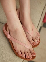 (W)FLIP LEATHER SANDALS