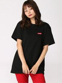 X-girl FACE BIG S/S TEE エックスガール カットソー Tシャツ ブラック ホワイト【送料無料】