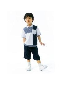 COMME CA ISM デザイン ポロシャツ コムサイズム カットソー ポロシャツ ホワイト ネイビー