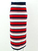 マルチボーダーニットタイトマキシスカート