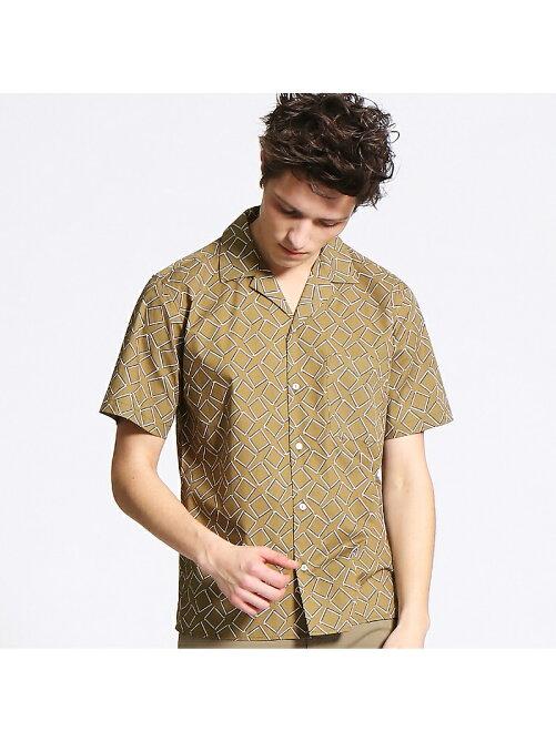 総柄オープンカラー半袖シャツ