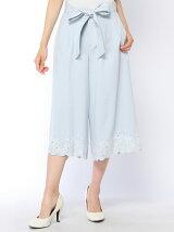 裾刺繍ガウチョパンツ