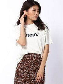 【SALE/50%OFF】Lugnoncure Techichi/フロッキープリントTシャツ テチチ カットソー Tシャツ ホワイト ブラウン グリーン ネイビー