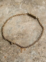 Wrapping texture cross braded chain anklet