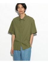 【汗染み防止】半袖コットンレーヨンシャツ