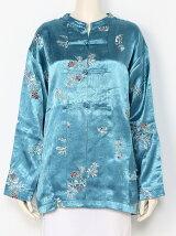 【La】エンブロイダリーサテンジャケット