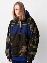 <monkey time> OVERSIZED CAMO MOUNTAIN PARKA/マウンテンパーカ