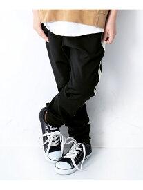 【SALE/10%OFF】devirock ライントラックパンツ 男の子 女の子 ベビー ボトムス ズボン デビロックストア 子供服 キッズ デビロック パンツ/ジーンズ パンツその他 ブラック