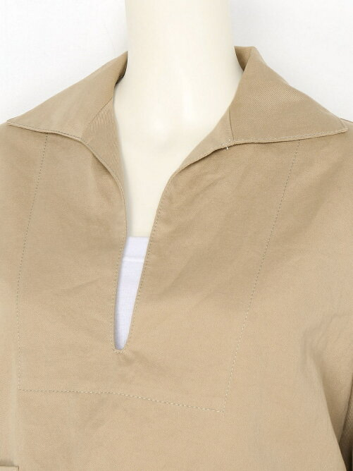 COTTON LINEN TWILL Pullover
