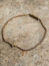 Wrapping texture cross braded chain bracelet