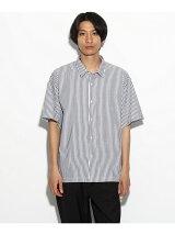 【汗染み防止】半袖ストライプシャツ