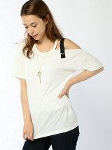 ネックレス付ワンショルストラップTシャツ