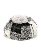 【cheap!!by vaNite】ポンポンチェックベレー帽