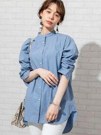 【SALE/50%OFF】coen ブロードバンドカラーロングシャツ(バンドカラーシャツ)# コーエン シャツ/ブラウス 長袖シャツ ブルー ホワイト グレー ベージュ