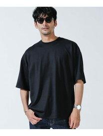 【SALE/10%OFF】nano・universe <汗染み防止>Anti Soaked スーパービッグ Tシャツ ナノユニバース カットソー Tシャツ ブラック グレー ホワイト【送料無料】