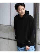【ビッグシルエット】袖スター刺繍 プルオーバーパーカー
