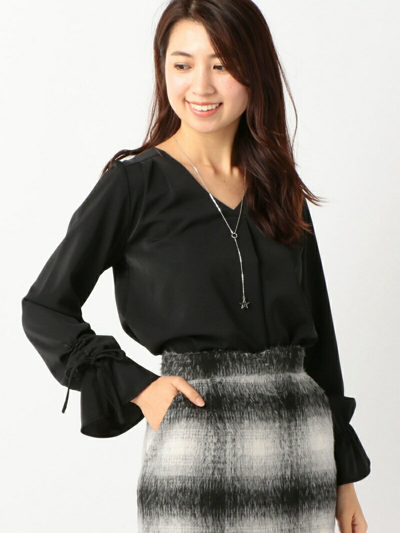 MEW'S REFINED CLOTHES 星ネックレス付ブラウス ミューズ リファインド クローズ シャツ/ブラウス【送料無料】
