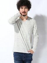 (M)【WEB店限定】【セレクト】ミックス杢ランダムテレコVネ
