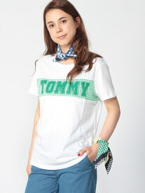 【SALE/70%OFF】TOMMY HILFIGER(トミーヒルフィガー) ロゴ Tシャツ ロゴ Tee カットソー 半袖 Tシャツ レディース トミーヒルフィガー カットソー【RBA_S】【RBA_E】