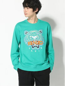 KENZO (M)SS20 Classic Tiger Sweatshirt M ケンゾー カットソー スウェット グリーン グレー ブラック【送料無料】