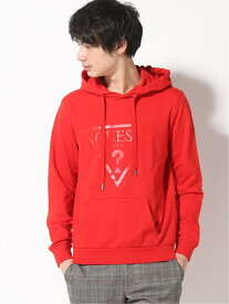 【SALE/50%OFF】GUESS (M)Hoodies W/Front Print ゲス カットソー パーカー レッド【送料無料】