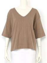BROAD STITCH V-neck Top