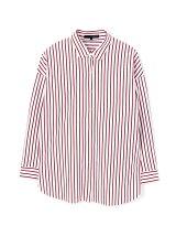 ◆大きいサイズ◆[洗える]ストライプジャージーシャツ