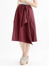 アソート柄巻き風スカート