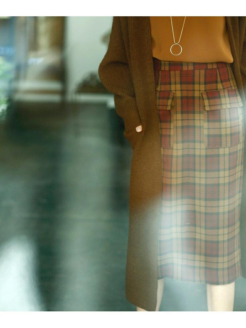 le.coeur blanc ウールライクフラップポケットタイトスカート ルクールブラン スカート【送料無料】