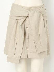 【SALE/70%OFF】EGOIST シャツラップ風SK エゴイスト スカート スカートその他 ベージュ