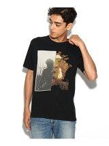 アシメプリントロックTシャツ