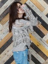 【雑誌掲載】otonaMUSE 4月号 Mix針抜き透かしニット・フリンジプルオーバー