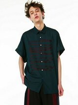 BARBED WIRE EMB. S/S BIG SHIRTS